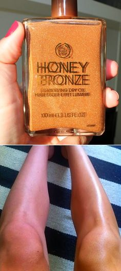 The Body Shop Honey Bronze Shimmering Dry Oil. Wow. I have this stuff and I swear by if, LOVE The Body Shop!