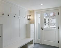 If our space were to be open like this I could mimic the wainscotting inside to match the opposite wall