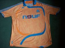 2007 2008 Olympique Marseille  Away Football Shirt Maillot France Adults XXL
