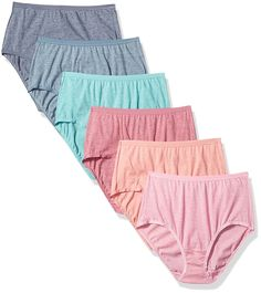 Fruit Of The Loom Women's 6 Pack Premium Ultra Soft Brief, Fashion Assorted, 6