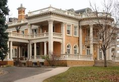 The historic Grant-Humphreys Mansion, at 770 Pennsylvania Street, may house Denver's future mayors if talks with the owner, the Colorado Historical Society, succeed. The home was built in Beautiful Architecture, Beautiful Buildings, Beautiful Homes, Architecture Design, Classical Architecture, Old Mansions, Abandoned Mansions, Abandoned Houses, Style At Home