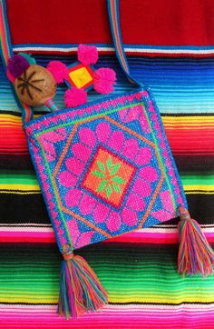 Huichol Embroidered Medicine Bag