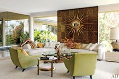Interiors- I would like my house to look like a Palm Springs vacation house in the early 60s.