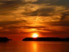 Fiery sunset in the Florida Keys
