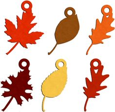 Silhouette Online Store - View Design #13815: leaf charms