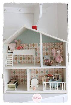 Afbeeldingsresultaat voor houten poppenhuis ikea