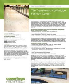 Coverings 2013 PROJECT: Green Platinum Project - Commercial, Remodel. Tile Transforms Northridge Fashion Center submitted by @Crossville Tile