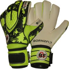 Spotty fluo Yellow Giga grip - goalkeeper gloves
