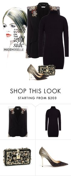 """""""Elegance ✨"""" by ghadoo ❤ liked on Polyvore featuring Alexander McQueen, Barbour, Dolce&Gabbana, Jimmy Choo and Rosanna"""