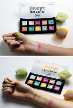 "They always said, ""Don't play with your food,"" but those rules don't apply to makeup! The new limited edition I Love You So Mochi eyeshadow palette from NYX Professional Makeup Canada has landed on the blog. Come see the swatches & read my first impressions! - www.DollAndDye.ca"