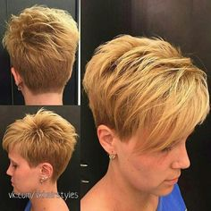 The Short Pixie Cut - 58 Great Haircuts You'll See for 2019 - Hairstyles Trends Short Hair With Layers, Short Hair Cuts For Women, Great Haircuts, Mom Hairstyles, Short Pixie Haircuts, Hair Today, Fine Hair, Hair Trends, Curly Hair Styles