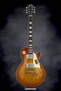 Solidbody Electric Guitar with Mahogany Body, Maple Top, Mahogany Neck, Rosewood Fingerboard, and 2 Humbucking Pickups - Aged and Signed