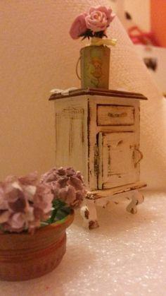 Ortensie e rose, miniature 1:12 dollhouse, roses and hydrangea