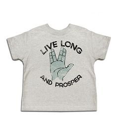 Take a look at this Ash 'Live Long and Prosper' Tee - Toddler & Kids by Urs Truly on #zulily today!