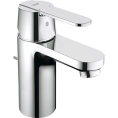 Buy the Grohe 32875000 Starlight Chrome Direct. Shop for the Grohe 32875000 Starlight Chrome Eurosmart Cosmopolitan Single Hole Bathroom Faucet with SilkMove and WaterCare Technologies - Free Metal Pop-Up Drain Assembly with purchase and save. Grohe Bathroom Faucets, Contemporary Bathroom Sink Faucets, Lavatory Faucet, Bathroom Fixtures, Bidet Faucets, Bathroom Chrome, Basins, Bathroom Hardware, Cosmopolitan