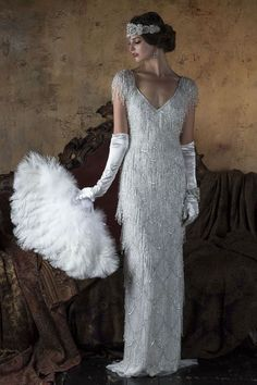 Wedding Dress Vintage 2016 Wedding Dresses Eliza Jane Howell 'The Grand Opera' Collection - I'm blown away by today's theatrical-inspired wedding dress feature. Gill Harvey has brought together her years of experience to create Eliza Jane Howell Gatsby Wedding Dress, Great Gatsby Wedding, 2016 Wedding Dresses, Dresses 2016, Great Gatsby Party Dress, Wedding Ideas, Star Wedding, Rustic Wedding, Habit Vintage