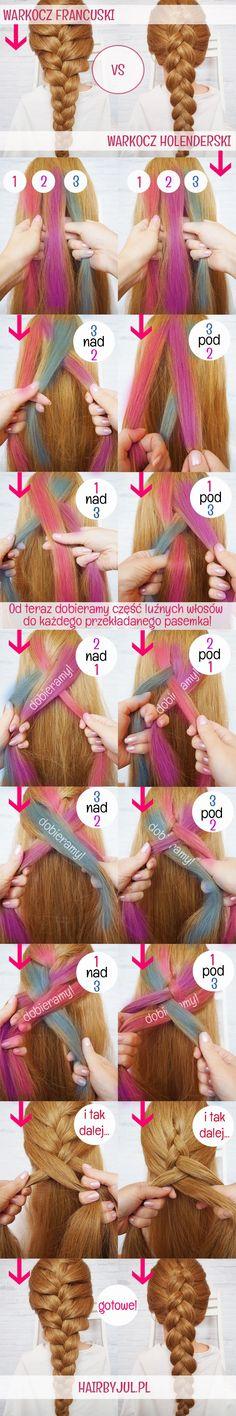 Warkocz francuski vs warkocz holenderski! Zobacz różnicę! dutch braid, french braid, hair tutorial