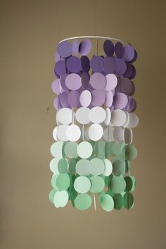 Lavender and Mint Ombré Paper Crib Mobile by FourGlitteredGeese