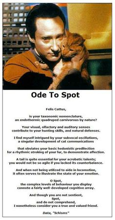 """Data's """"Ode to Spot"""""""