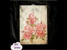 decoupage shabby chic wooden wall decoration DIY ideas craft tutorial - YouTube