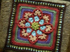 Gorgeous crochet stitch work! Great use of stitches and color!
