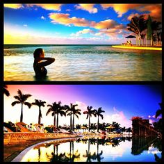 What a perfect sunset at the Grand Lucayan