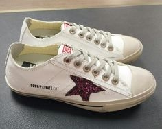 https://www.goldengoosesneakers.fr/  459 : Sneakers Golden Goose V Star Sneakers GGDB Homme Glitter Blanc RougeJLhItkhIt