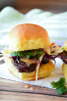 Crispy with a sweet and spicy glaze, topped with freshly shredded red and green cabbage and drizzled with a little sriracha honey mayo, these Crispy Pork Belly Sliders will be the bite that all your friends will be raving about at your kick-off party for football season!