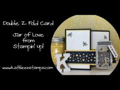Double Z Fold Shaker Card featuring the Jar of Love bundle from Stampin' Up! by Kathleen Wingerson   www.kathleenstamps.com