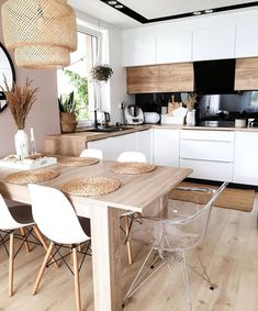 Kitchen Inspiration // My Hygge Home - All Ideas Kitchen Room Design, Modern Kitchen Design, Home Decor Kitchen, Interior Design Kitchen, New Kitchen, Home Kitchens, Room Kitchen, Kitchen Living, Kitchen Cabinets