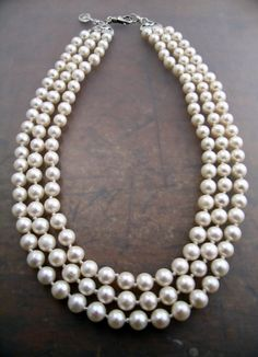 Strands of Perfect Pearls--very lady like, & very Southern and perfect for my birthday :)