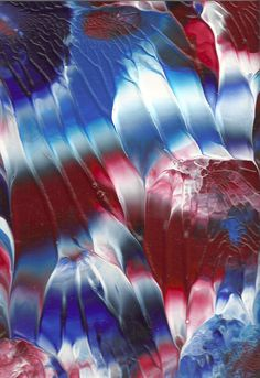 Original Acrylic Abstract Red White And Blue Painting By Rostudios 35 00 Painted