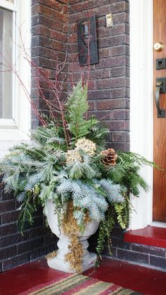 christmas greens arrangements | They also only take 20 minutes or so to throw together, just make sure ...