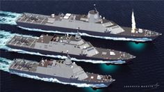 3 different US Littoral Combat Ships