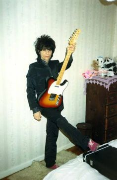 Johnny Thunders with a Fender Telecaster