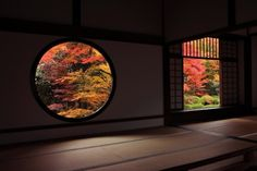 """The Genkoan Temple, a Zen Buddhist temple with a tranquil garden & legendary ceiling with wood reclaimed from a castle. The ceiling of the main hall is called the """"bloody ceiling,"""" which was made using floorboards from the disassembled Fushimi Castle where soldiers were defeated, killed themselves and left bloodstains on the floor in 1600. (Source)"""