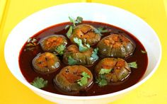 gulla kolupkari konkani spicy eggplant curry #Food