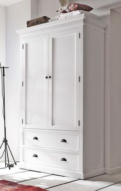 Wardrobe Closet: Wardrobe Closet White Vintage