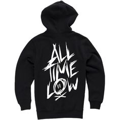 All Time Low Scratch Black Pullover Hoodie ($40) ❤ liked on Polyvore featuring tops, hoodies, pullover hoodie, black pullover, low tops, pullover tops and black hooded sweatshirt