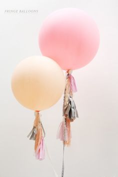 Balloons with streamers!