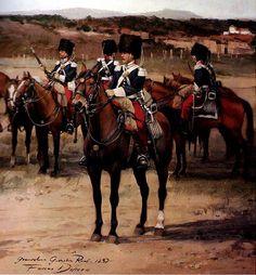 Granaderos de la Guardia Real. Artista Augusto Ferrer Dalmau. http://www.elgrancapitan.org/foro/viewtopic.php?f=21&t=11680&p=917465#p917451