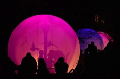 Lyons Festival of Lights    Color Changing Bubbles Tell Stories Through Shadows - My Modern Metropolis
