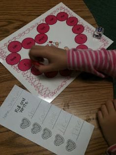 Valentine's day center.  Roll and write the sight word.  I might add giving them a valentine treat if they can name all the words written. :)