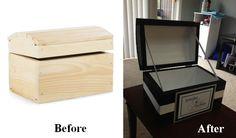 DIY Wedding Card Box - I saw this box at Michaels