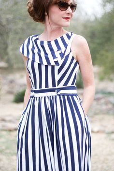Delusions of Grandeur: eShakti striped dress