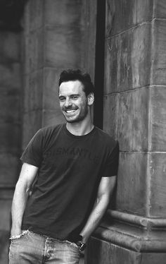 Michael Fassbender ... Just wondering how he can look so sweet mad fun here... (See next pin)...