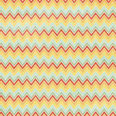 Sweet Chevron 12X12 On The Sunny Side Paper by My Minds Eye, LLC - Two Peas in a Bucket