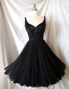 ~curatorial vintage 1950s james galanos cocktail dress~