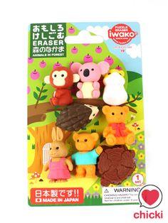Iwako Kawaii Animals Erasers