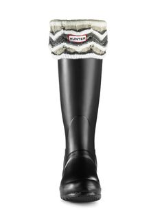 Zig Zag Striped Welly Socks | Rain Boot Socks| Hunter Boots